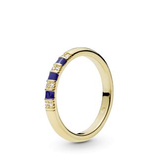 Prsten sa cirkonima i plavim prugama