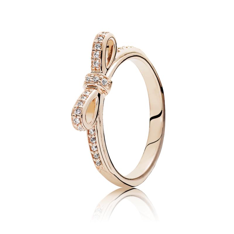 Prsten PANDORA Rose Mašna sa kubnim cirkonima