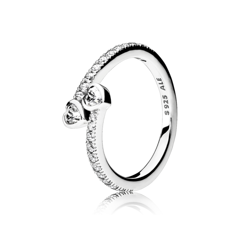 Prsten Dva svetlucava srca