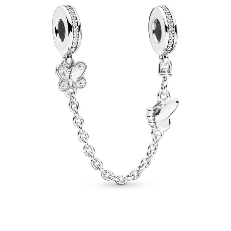 Sigurnosni lančić sa ukrasnim leptirom