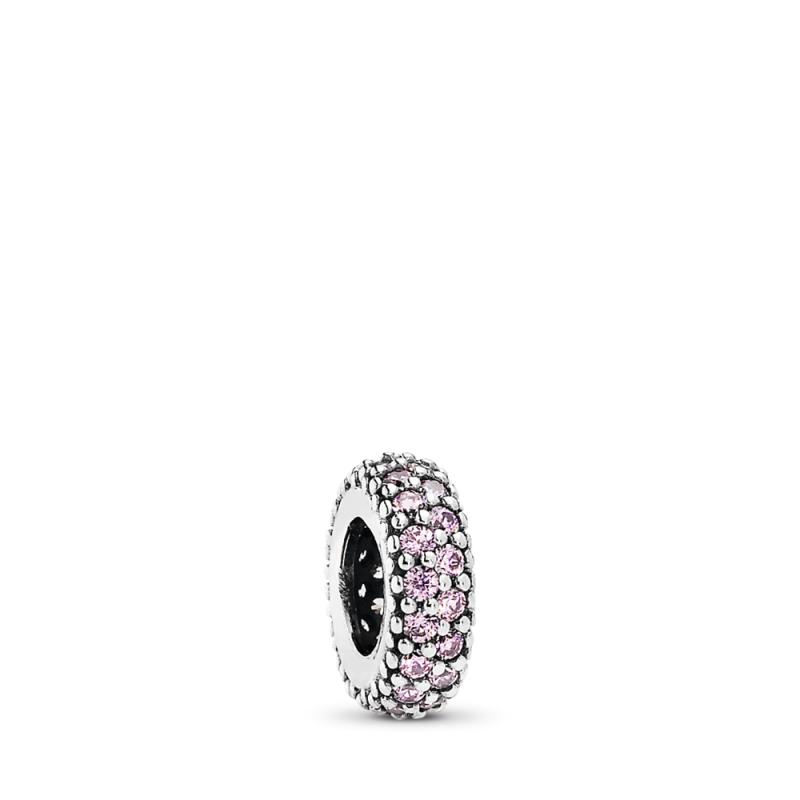 Razdvojnik sa ružičastim svetlucavim kamenčićima
