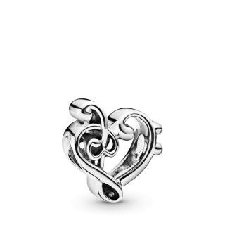 Privezak Violinski ključ u obliku srca