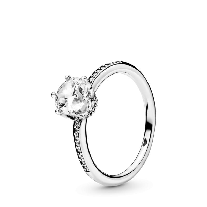 Prsten sa prozirnom blistavom krunom
