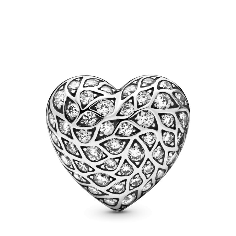 Pojedinačna svetlucava minđuša u obliku srca