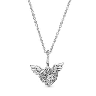 Ogrlica Pavé Srce i anđeoska krila