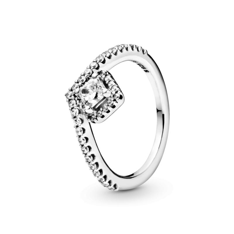 Prsten Wishbone Blistavi kvadrat