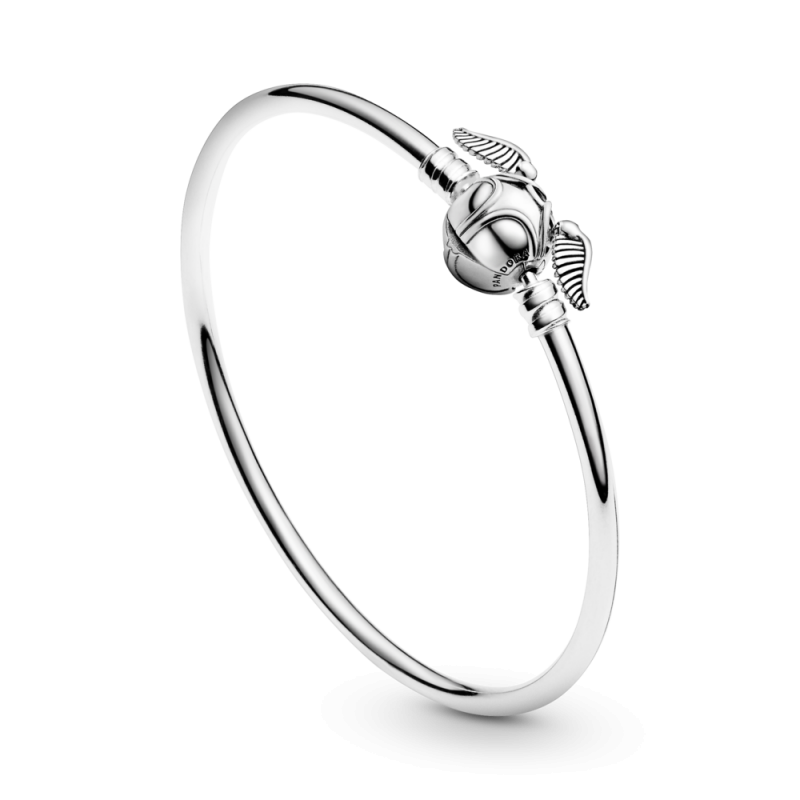 Pandora Moments Harry Potter, Golden Snitch Clasp Bangle | Clips ...