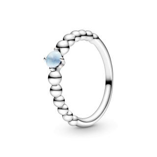 Prsten nebeskoplave boje sa perlicama