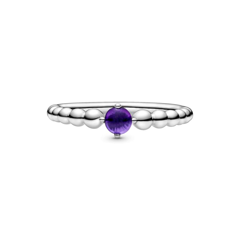 Prsten ljubičaste boje sa perlicama