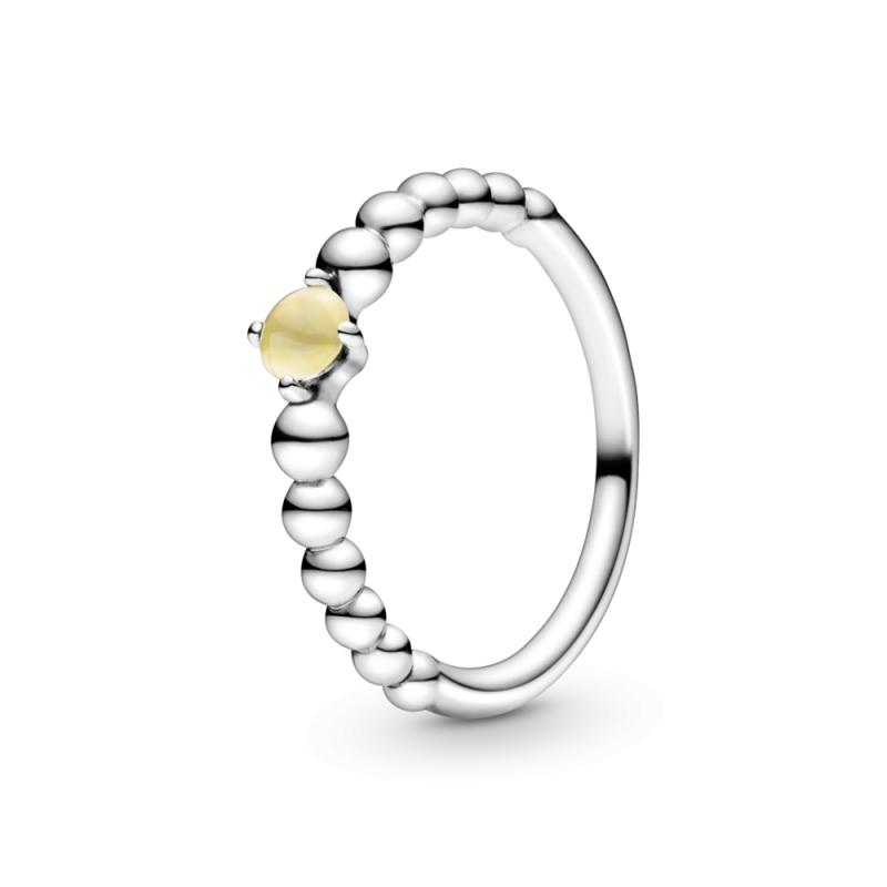 Prsten boje meda sa perlicama