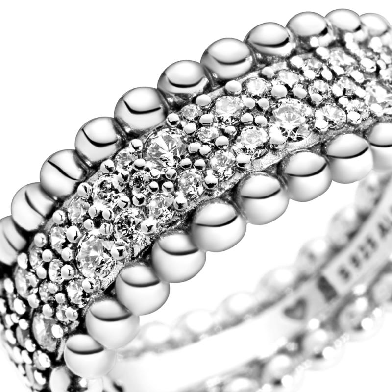 Prsten Pavé  sa perlicama za nizanje