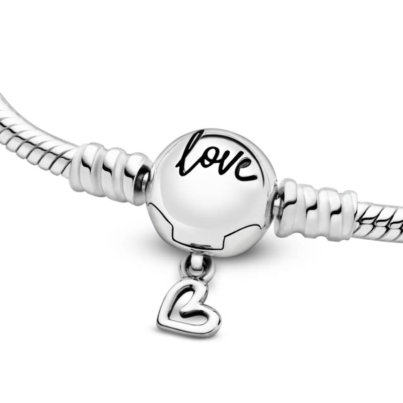 Pandora Moments narukvica od zmijskog lanca sa kopčom u obliku nacrtanog srca