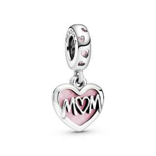 Viseći privezak u obliku srca sa porukom Mum