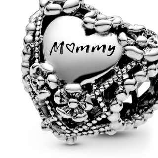 """Privezak u obliku srca """"Mummy"""""""