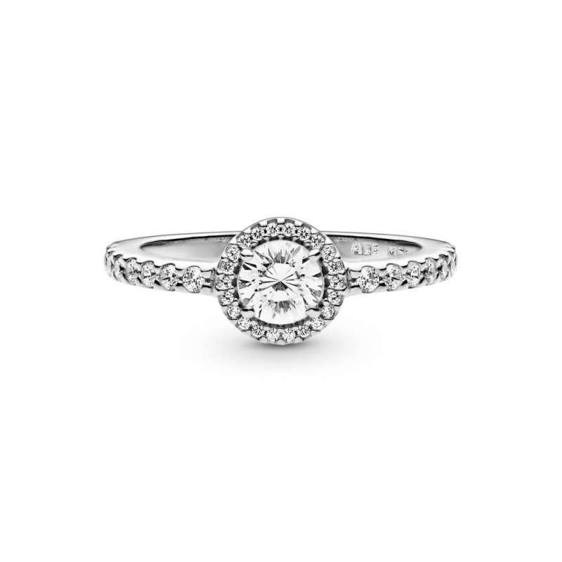 Srebrni Prsten sa okruglim kubnim cirkonom