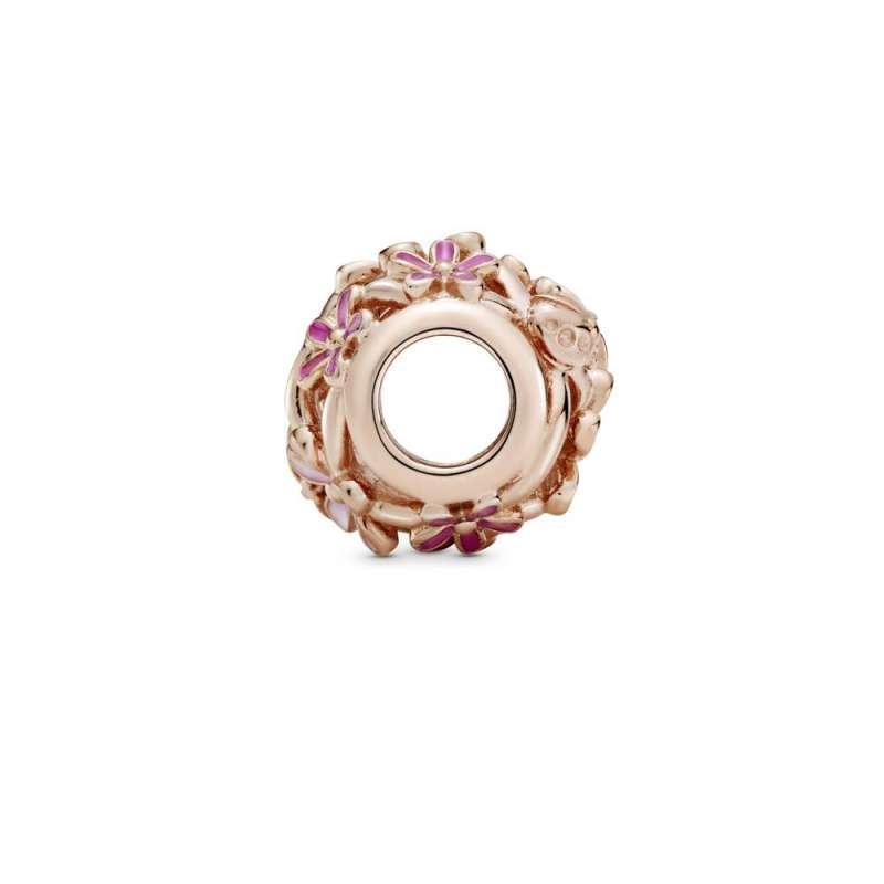 Privezak Filigranska roze bela rada
