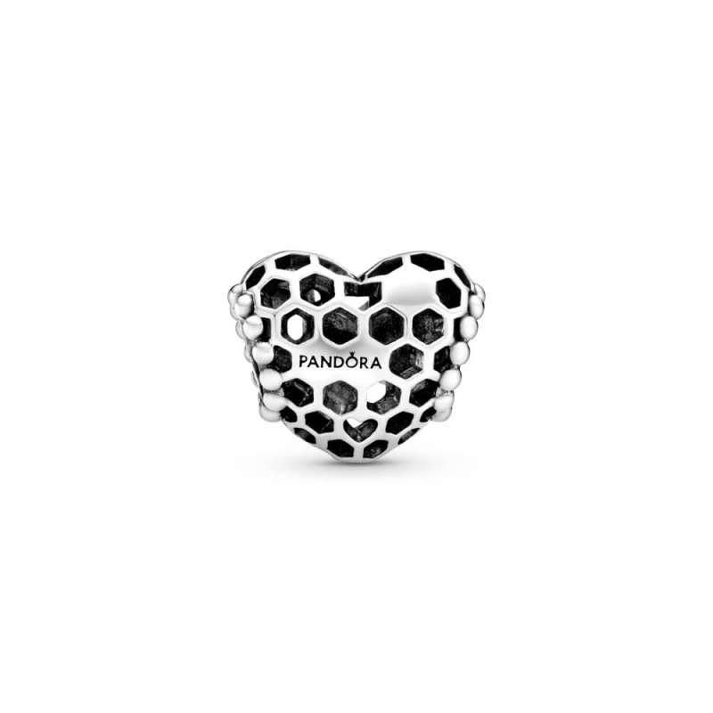 Privezak u obliku srca Bee Happy