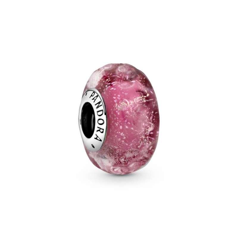 Privezak Talasasto roze Murano staklo
