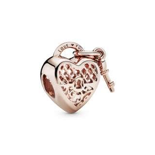 Privezak Katanac u obliku srca