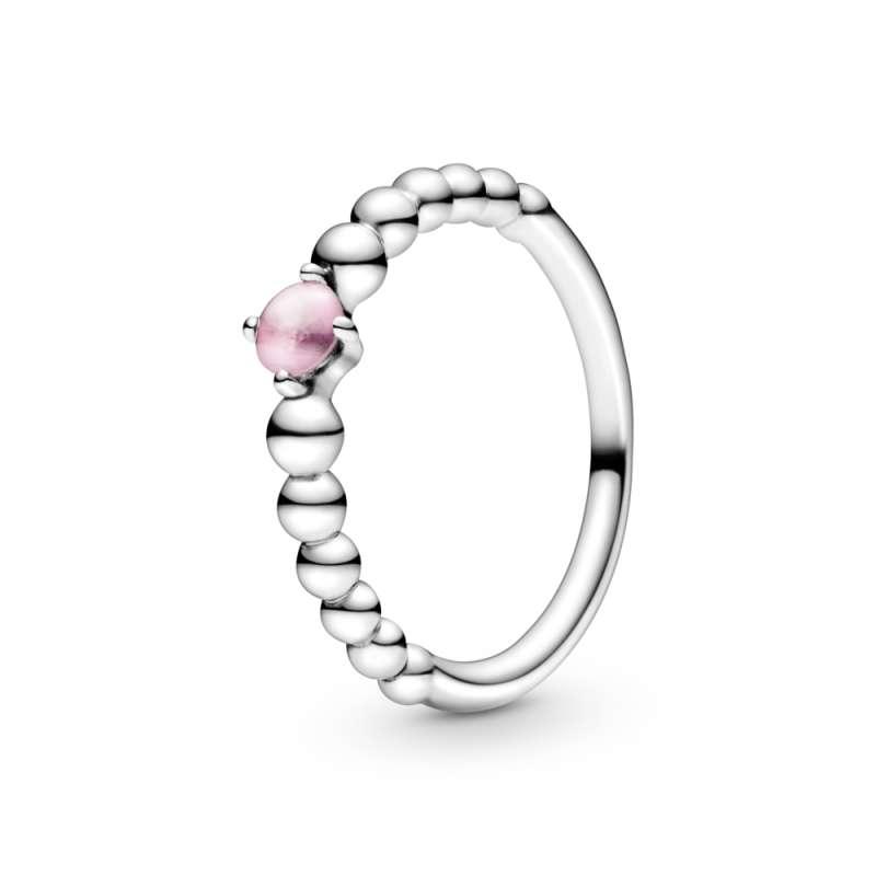Prsten ružičaste boje sa perlicama
