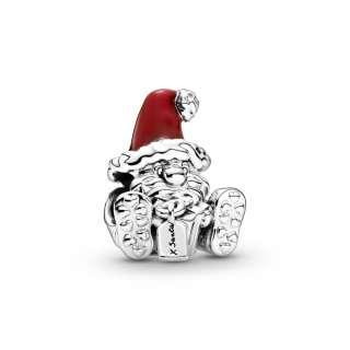 Privezak Deda Mraz koji sedi i poklon