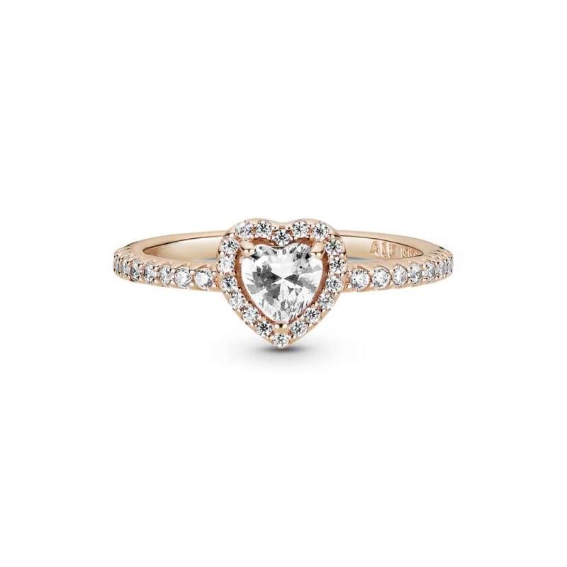 Prsten Svetlucavo reljefno srce