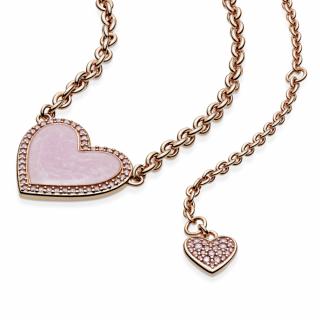 Ogrlica uz vrat Roze spiralno srce