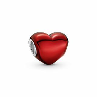 Privezak Crveno metalik srce
