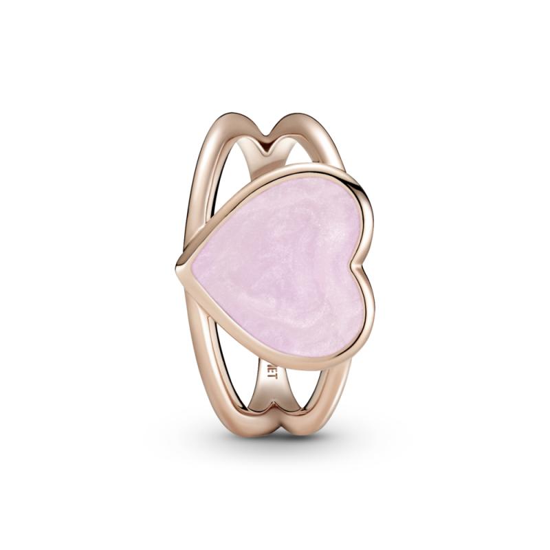 Prsten Roze spiralno srce