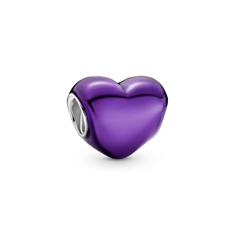 Privezak Ljubičasto metalik srce
