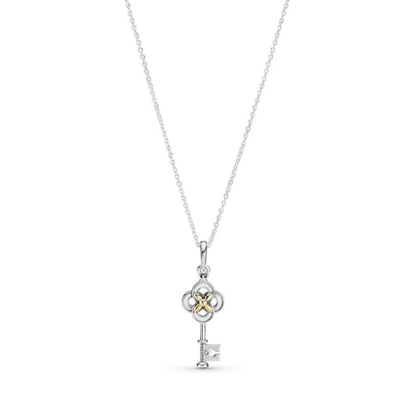 Ogrlica Dvobojni ključ i cvet