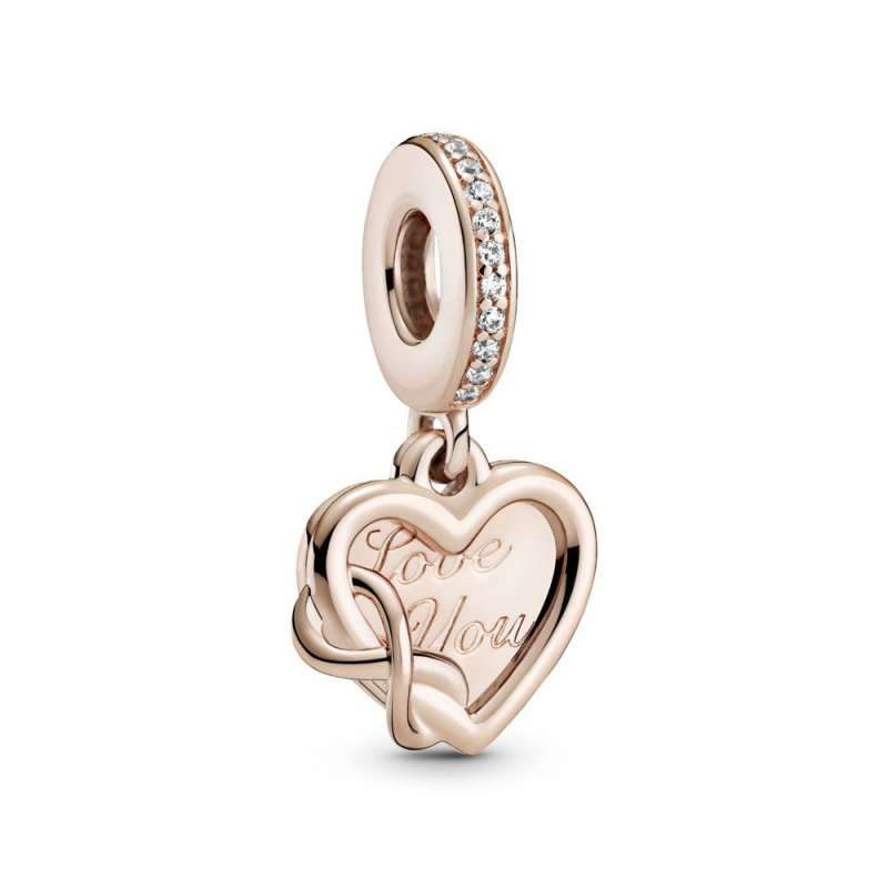 Viseći privezak Love You sa srcem i simbolom za beskonačnost