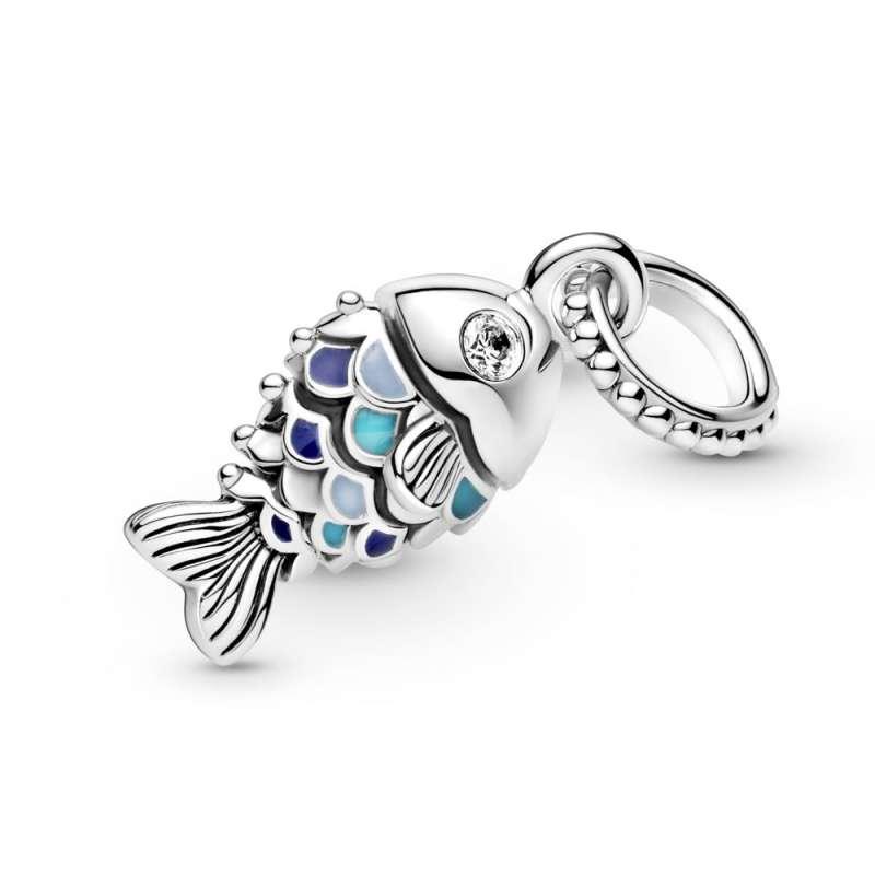 Viseći privezak Ribica sa plavom krljušti