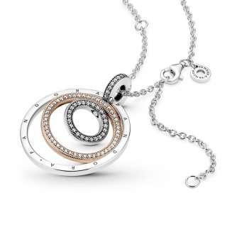 Privezak i ogrlica Dvobojni krugovi