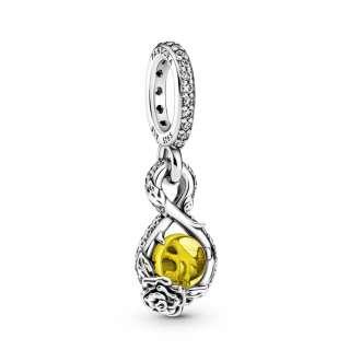 Privezak za ogrlicu Disney Belle beskonačnost i ruža