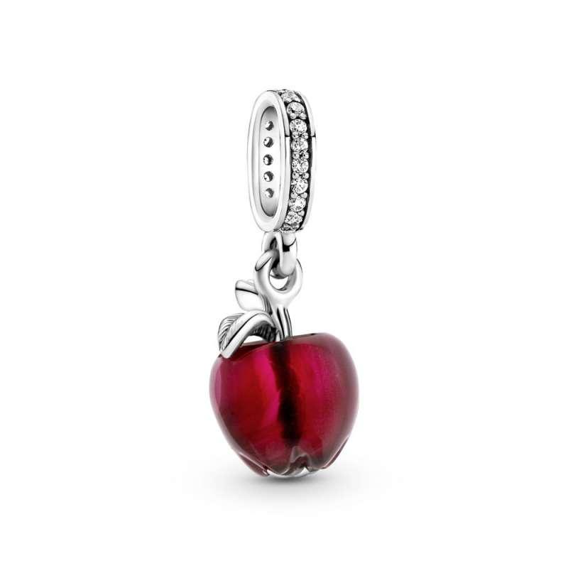 Viseći privezak Crvena jabuka od Murano stakla
