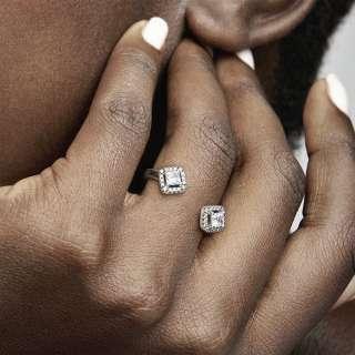 Otvoren prsten Kockasta svetlucavost