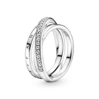 Trostruki trakasti prsten Ukršteni pavé