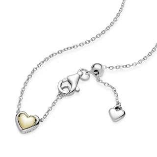 Ogrlica Kupolasto zlatno srce