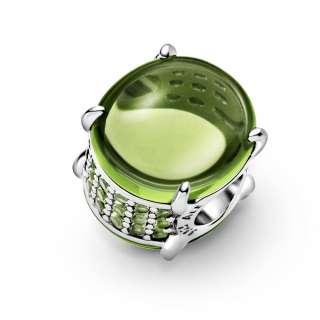 Privezak Zeleni ovalni kabošon