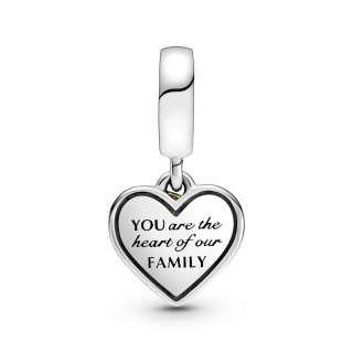 Viseći privezak Dvobojno porodično stablo i srce
