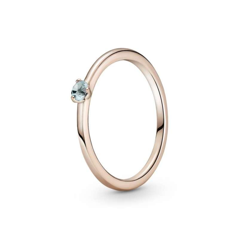 Prsten sa svetloplavim kamenom