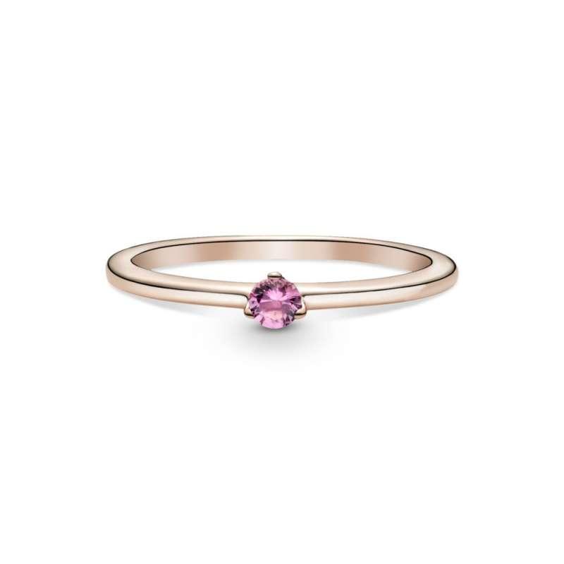 Prsten sa roze kamenom