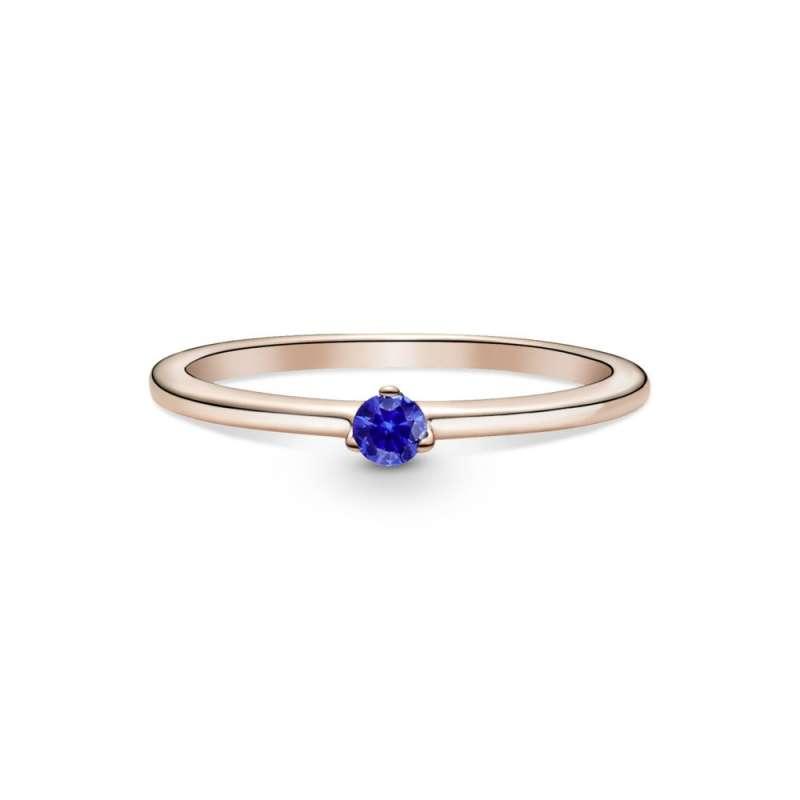 Prsten sa tamnoplavim kamenom