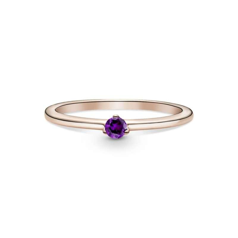 Prsten sa ljubičastim kamenom