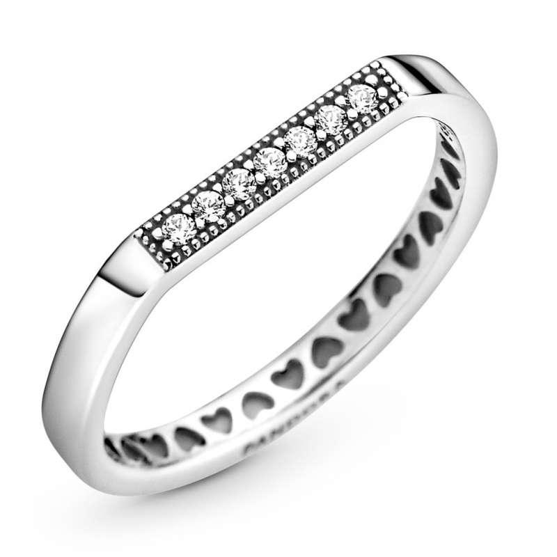 Prsten za nizanje sa svetlucavom pločicom