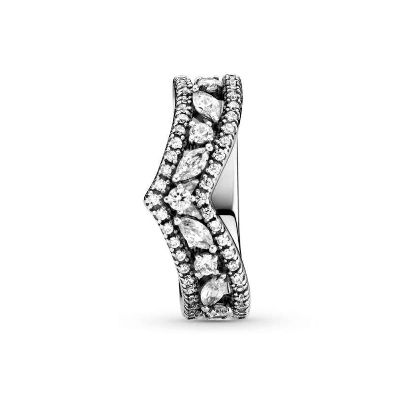 Prsten Svetlucavi markiz prsten sa dvostrukim ševronom