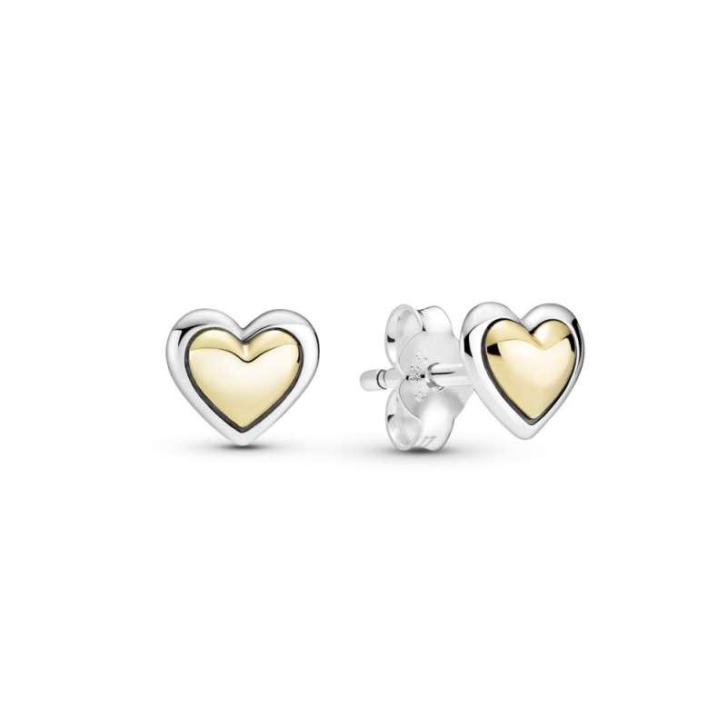 Minđuše Kupolasto zlatno srce
