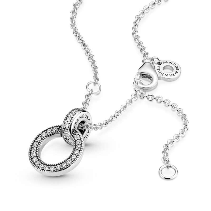 Privezak i ogrlica Dvostruki krug