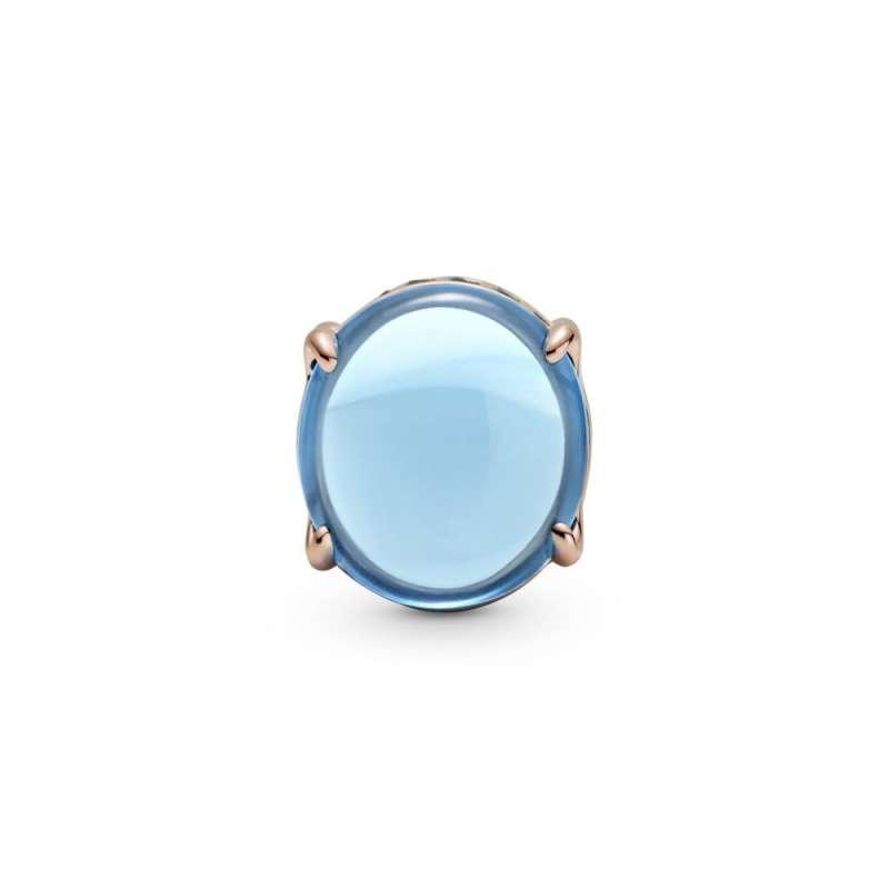 Privezak Plavi ovalni kabošon